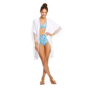 Lilly Pulitzer x Target Fringe Kimono Coverup M